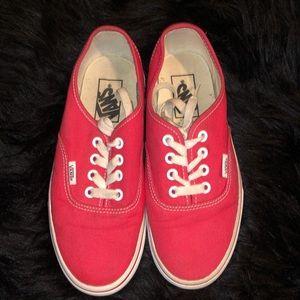 Women's Red Vans Shoes